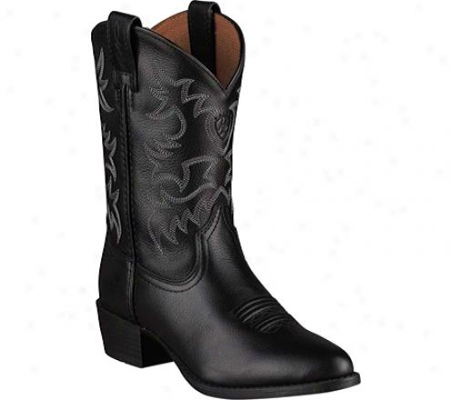 Ariat Heritage Western (children's) - Black Full Graln Leather