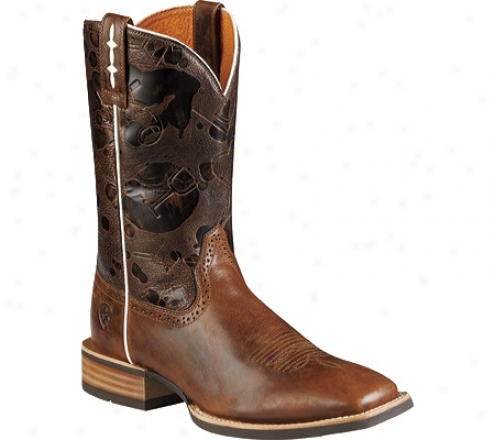 Ariat Hot Iron (men's) - Mission Brown/saddle Back Brown Full Grain Leather