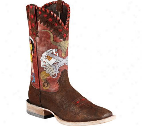 Ariat Lefty's Luck (men's) - Bunkhouse Brown/lucky Cards Full Grain Leather