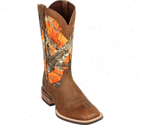 """ariat Quickdraw 13"""" (men's) - Tumbled Brown/true Timber Full Grain Leather"""