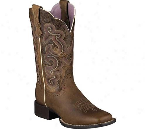 Ariat Quickdraw (women's) - Badlands Brown/wicker Full Grain Leather
