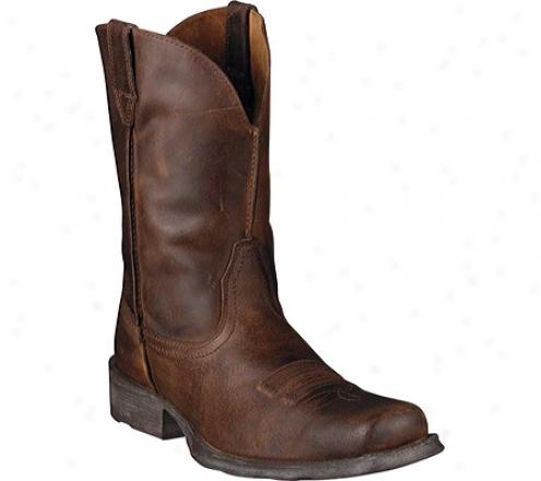 Ariat Rambler Square Toe (men's) - Moccasin Full Grain Leather