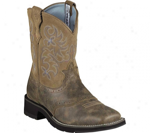 Ariat Ranchbaby (women's) - Brown Baby Full Grain Leather/suede