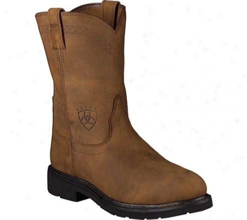 Ariat Sierra Steel Toe (men's) - Aged Bark Full Grain Leather