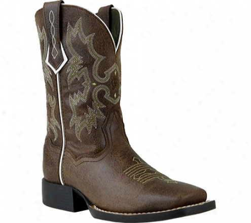 Ariat Tombstone (infants') - Roughed Chocolate Full Grain Leather