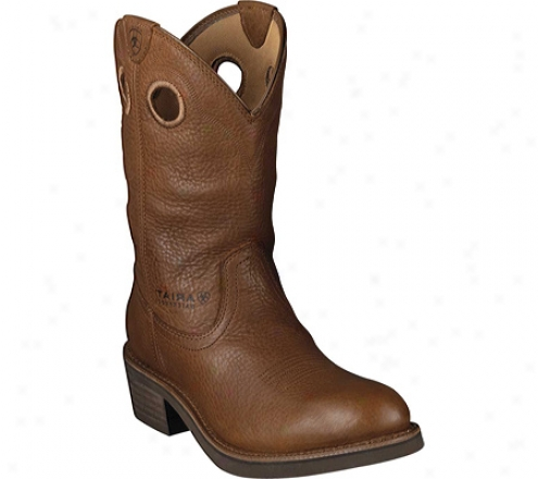 Ariat Trail Hand U Toe (men's) - Golden Grizzly Full Grain Leather