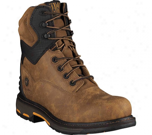 """ariat Workhog Rt 8""""composite Toe (mdn's) - Uneven Bark Full Grain Leather"""