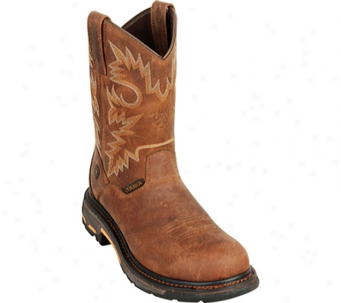 Ariat Workhog Rt Pull-on Composite Toe (men's) - Alamo Brown Full Grain Leather