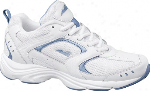 Avia A324w (women's) - White/metallic Lake Blue