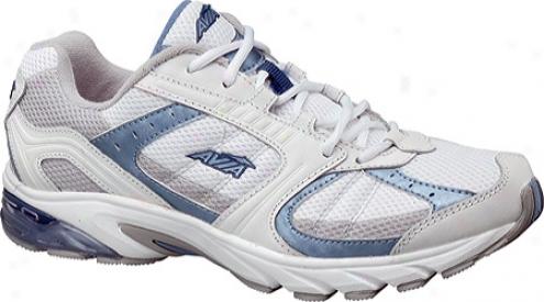 Avia A5016w (women's) - White/metallic Lake Blue/chrome Silver/navy Blue