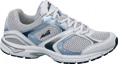 Avia A5023w (women's) - White/metallci Lake Blue/submarine Blue/silver