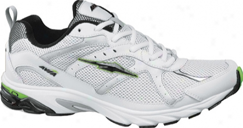 Avia A5240m (men's) - White/black/bonzai Lime/chrome Silver