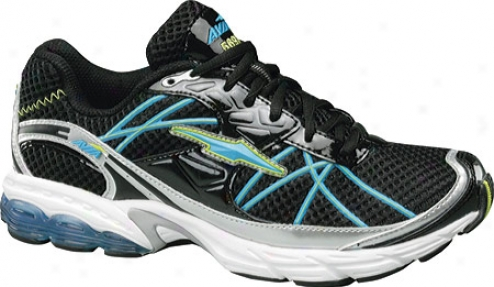 Avia A5697w (women's) - Black/chrome Silver/splash Blue/yellow Glow/white