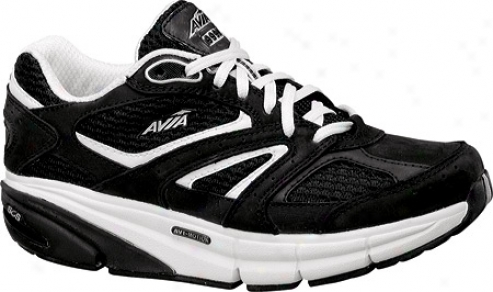 Avia Itone (women's) - Black/white/chrome Silver