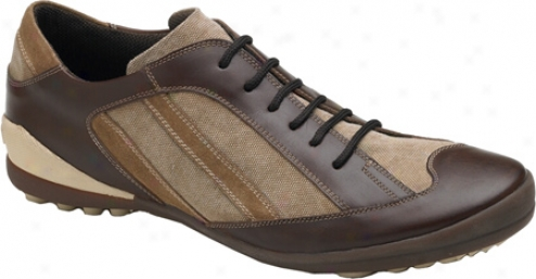 Bacco Bucci Cafu (men's) - Brown Multi Linen/calf