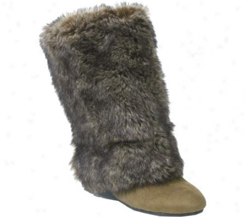Barefoot Tess Amelia (women's) - Camel Faux Fur/faux Suede