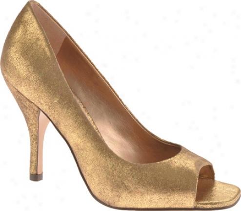 Bcbgeneration Ariel (women's) - Old Gold Metallic Suede