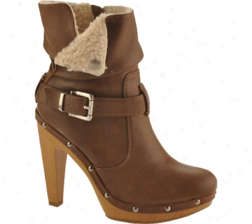 Bcbgeneration Martha (women's) - Saddle/natural Apache Vintage/shearling