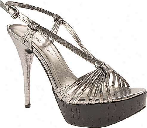 Bcbgeneration Santos (women's) - Pewter/black Metallic/cork