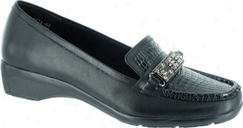 Bella Vita Dalton (women's) - Black Croco Leather