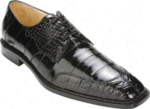 Belvedere Cane (men's) - Black Crocodile/eel