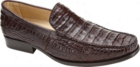 Belvedere Villa (men's) - Brown Crocodile