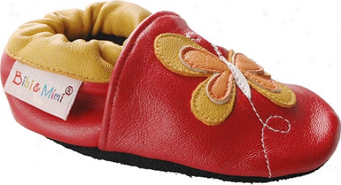 Bibi And Mimi Burterfly (infants') - Red/yellow Leather