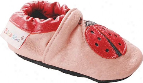 Bibi And Mimi Ladybug (infants') - Pink/red Leather
