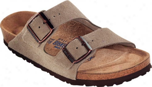 Birkenstock Arizona Suede With Soft Footbed - Taupe Suede With Soft Footbed