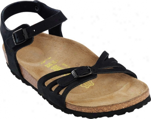 Birkenstock Bali Suede Woth Soft Footbed (women's) - Black Silky Suede