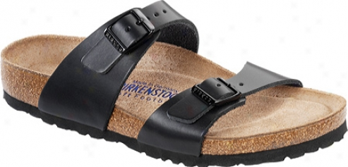 Birkenstock Sydney Soft Footbed (women's) - Hunter Black Leather