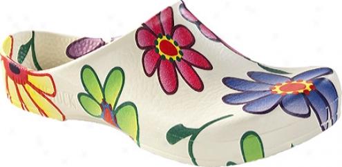 Birki's Classic Birki (women's) - White Flower