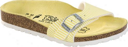 Birki's Menorca (girls') - Narvic Stripe Soft Yellow