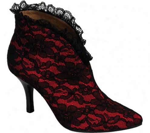 Bordello Beauty 01l (women's) - Red Satin/black Lace