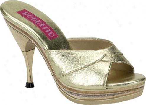 Bordello Genie 101le (women's) - Gold Leather