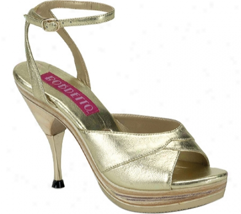 Bordello Genie 109le (women's) - Gold Leather