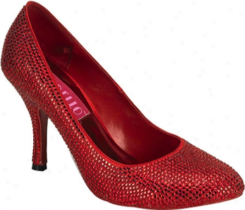 Bordello Violette 14r (women's) - Red Rhinestones