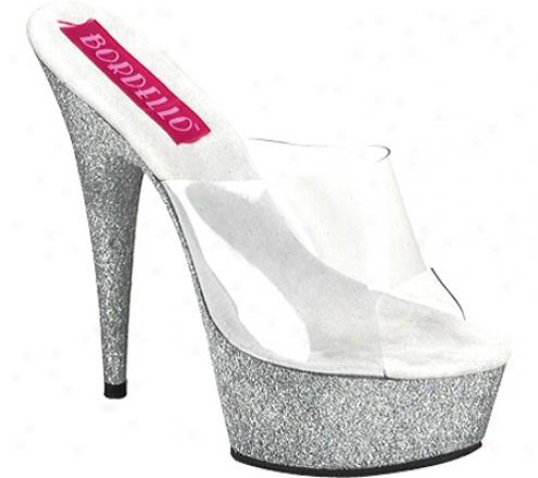 Bordello Vivian 23 (women's) - Clear/silver Mini Glitter