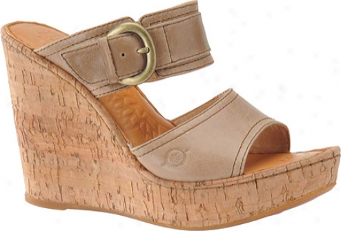 Born Zee (women's) - Pebble Taupe Full Grain Leather