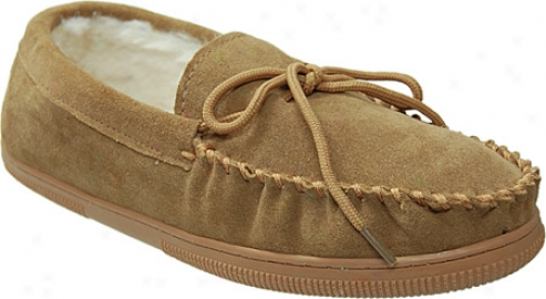 Boston Traveler Faux Suede Mocassin Slippers (men's) - Hickory
