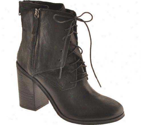 Boutique 9 Saffi (women's) - Black/black Leather