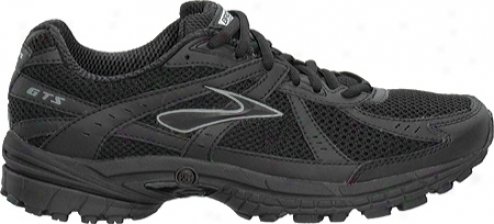 Brooks Adrenaline Gtss 10 (men's) - Black/silver/metallic Pavement