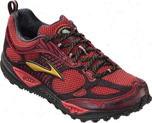 Brooks Cascadia 6 (men's) - Slam/goldenrod/black/silver
