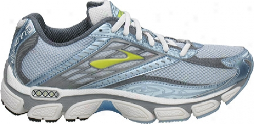 Brooks Glycerin 8 (women's) - White/sky Blue/pavement/bright Limeade/black