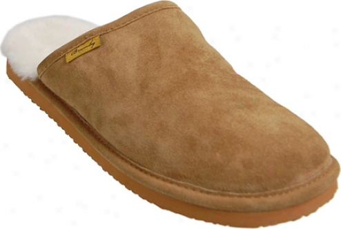 Brumby Australia Backless Sheepskin Slippers (men's) - Chestnut