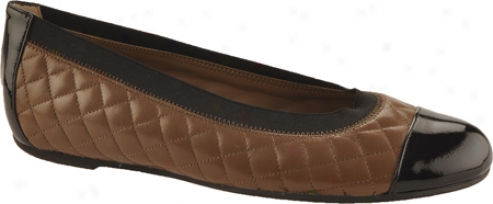 Bruno Magli Clivia (women's) - Taupe Quilted Nappa/black Patent