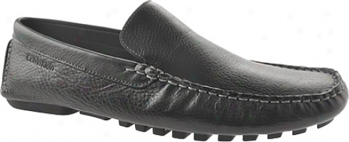 Calvin Klein Deauvville (men's) - Black/gravel Waxy Tumbled Leather