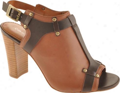 Calvin Klein Janet (women's) - Saddle/brown Nappa/calf