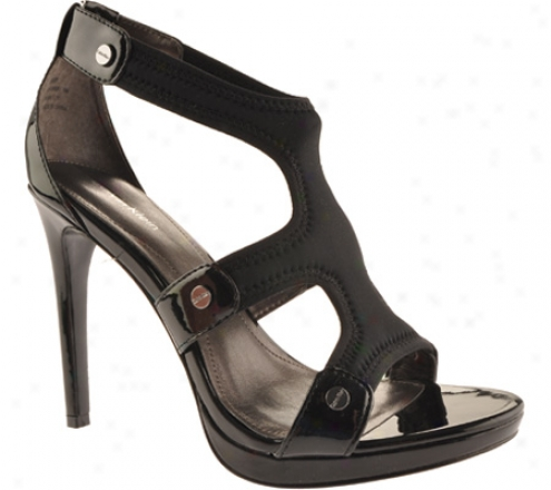 Calvin Klein Larissa (women's) - Black Stretch/patent