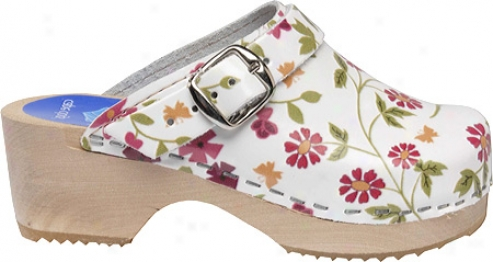 Cape Clogs Floral Garden (girls') - White/multi
